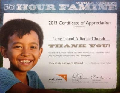 30 Hour Famine 2013
