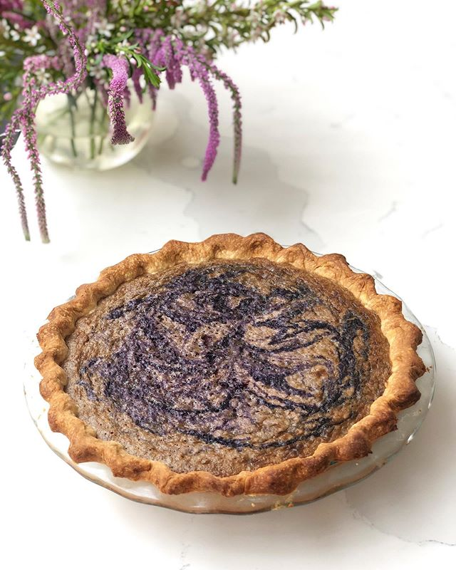"Ube ""Thankful"" Pie.  It's still a month away from Thanksgiving, but every day is a time to give thanks for friendships, both all and new. Our @sari.sari.sisterhood has inspired an early ""Friendsgiving"" dessert by our co-founder, Grace (@sweet.cora.cakes). The traditional pumpkin pie recipe is given a Filipino twist, seeing pumpkin replaced with purple yams. Oh my gourd, let's root for our Pilipino plavours!"