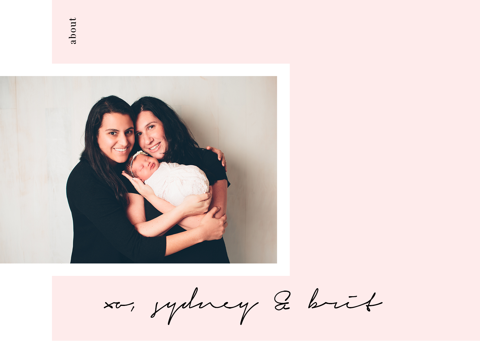 - Hi, We're The Sharon Moms.This is our little family. Meet Brit (left), Sydney (right) and our baby girl, Thea.
