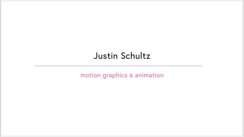 Motion Graphics — Justin Schultz