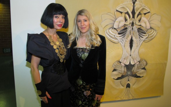 Homeira Goldstein with Amy Myers