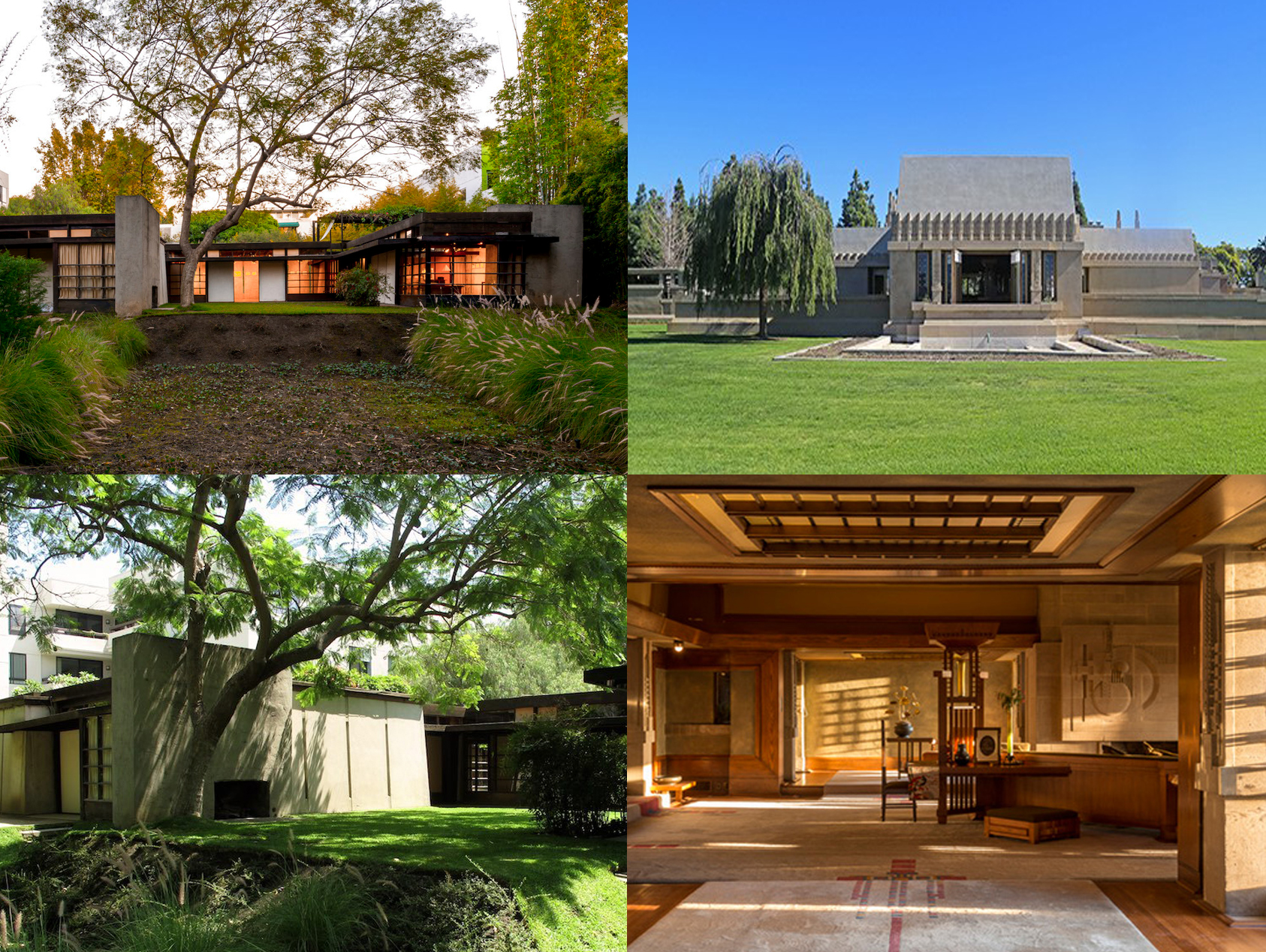 AD Classics •   Kings Road House Photo  : ©Joshua White  AD Classics •   Kings Road House Photo  : ©Flickr John Zacherle   Architectural Digest   • Photo Courtesy of Hollyhock House KCET     Behind the Scenes of the Hollyhock House   • Photo: Courtesy of Barnsdall Art Park