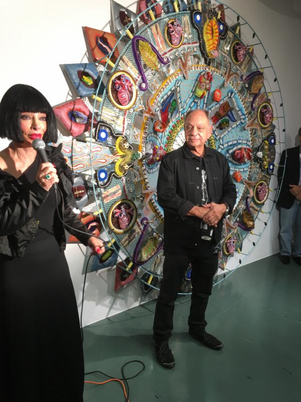 Getting high on art: Homeira Goldstein and Cheech Marin Photo Courtesy of  Mark Lipps