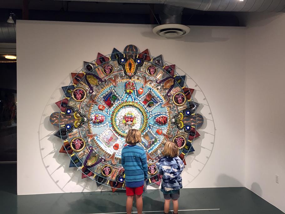 Oxymoderna (Aztec Calendar), 2002, Einar & Jamex De La Torre, mixed media glass sculpture
