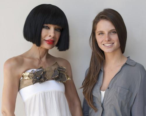 Curator and Art Avenue president Homeira Goldstein with artist Natalie Arnoldi GLORIA PLASCENCIA, CONTRIBUTING PHOTOGRAPHER