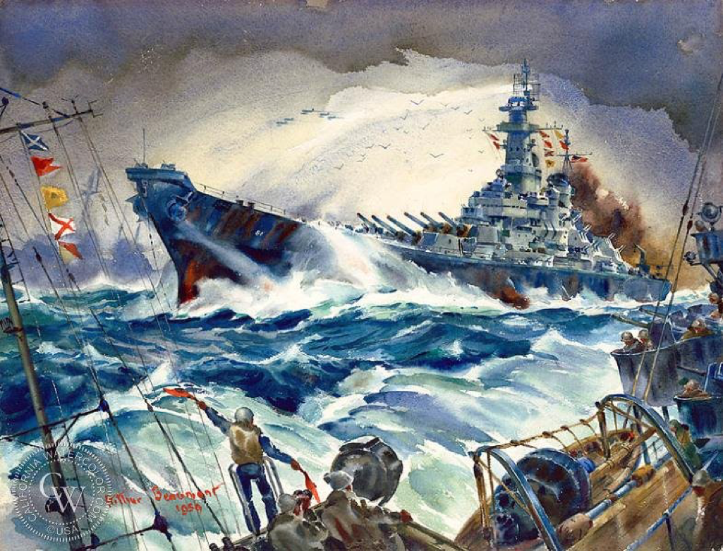 Pacific Task Force, U.S.S. Iowa, 1959    |  Arthur Beaumont (1890-1978)