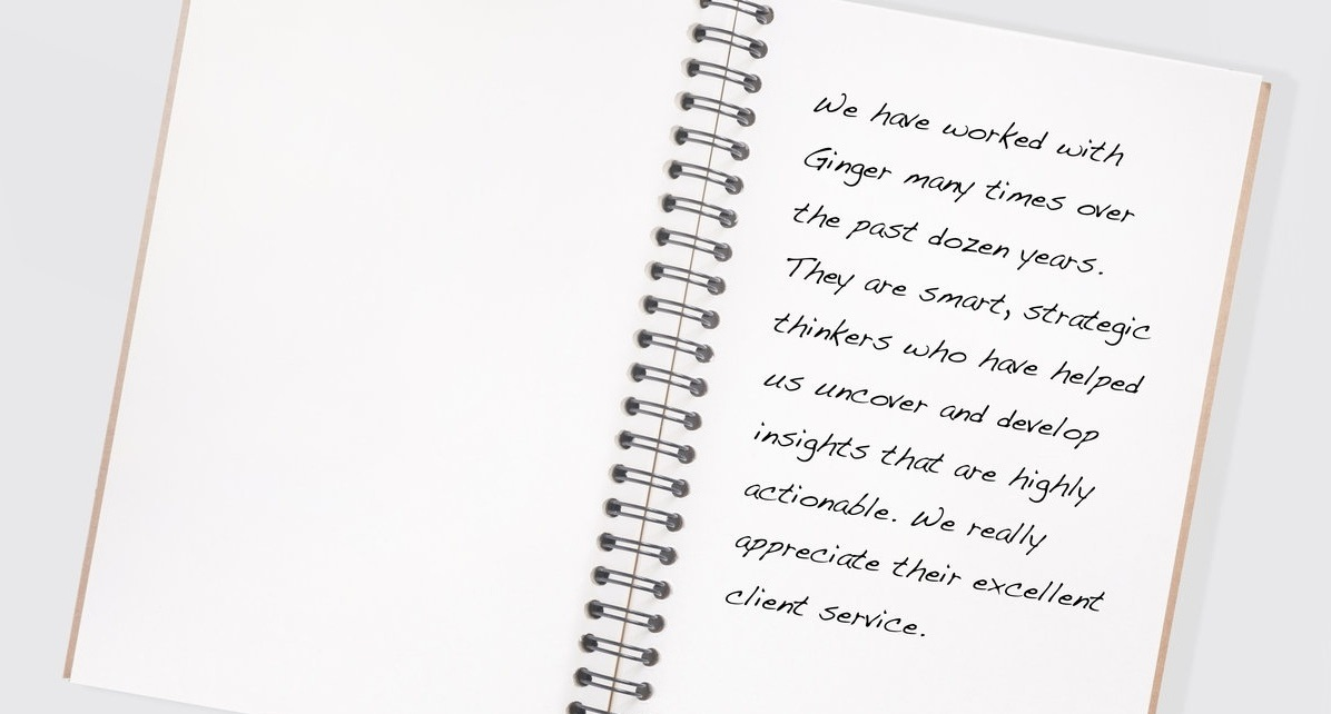 in their own words - Read what some of our clients say about working with us.