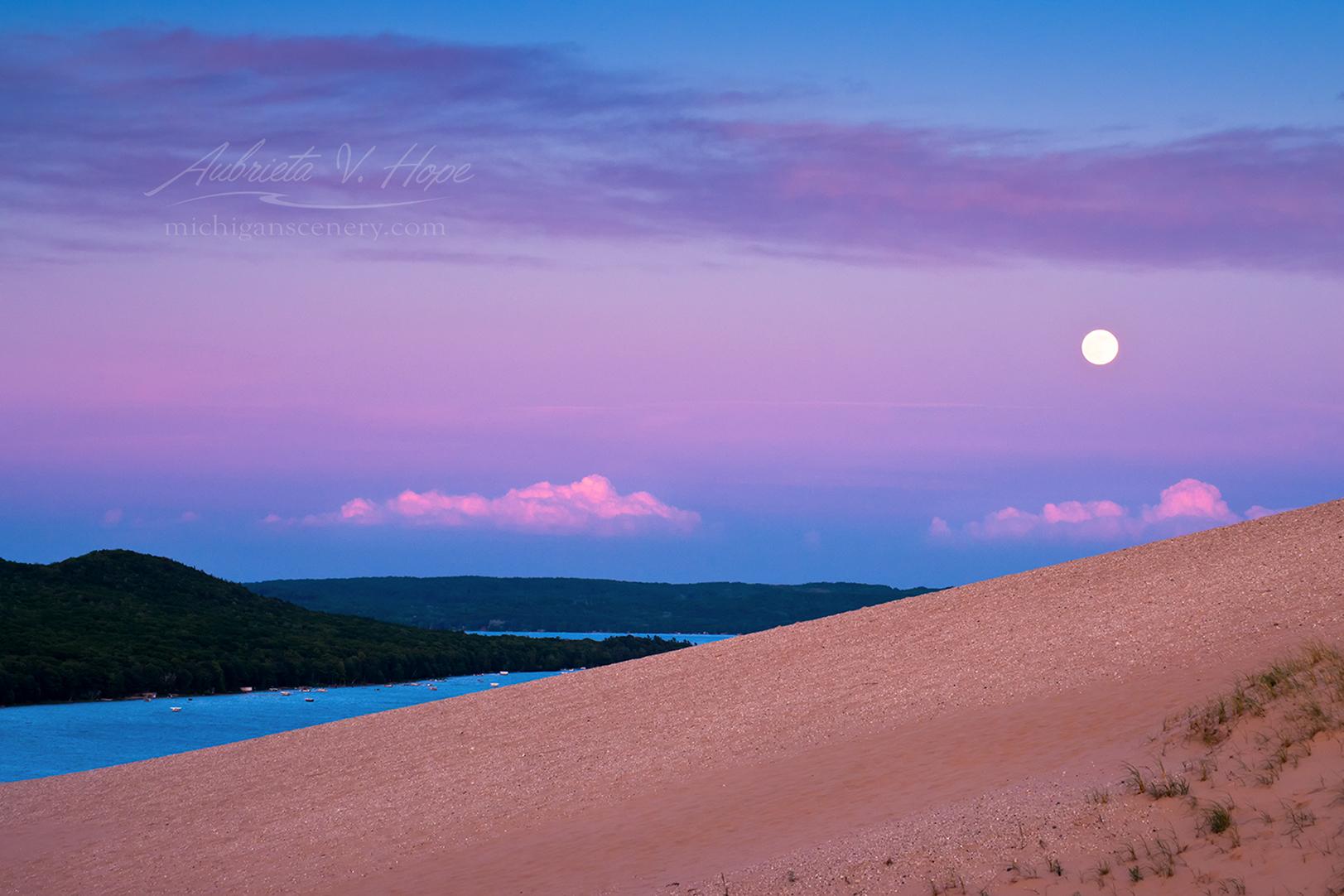 MI15-0561-1792 Strawberry Moon at Sleeping Bear Dunes by Aubrieta V Hope Michigan Scenery.jpg