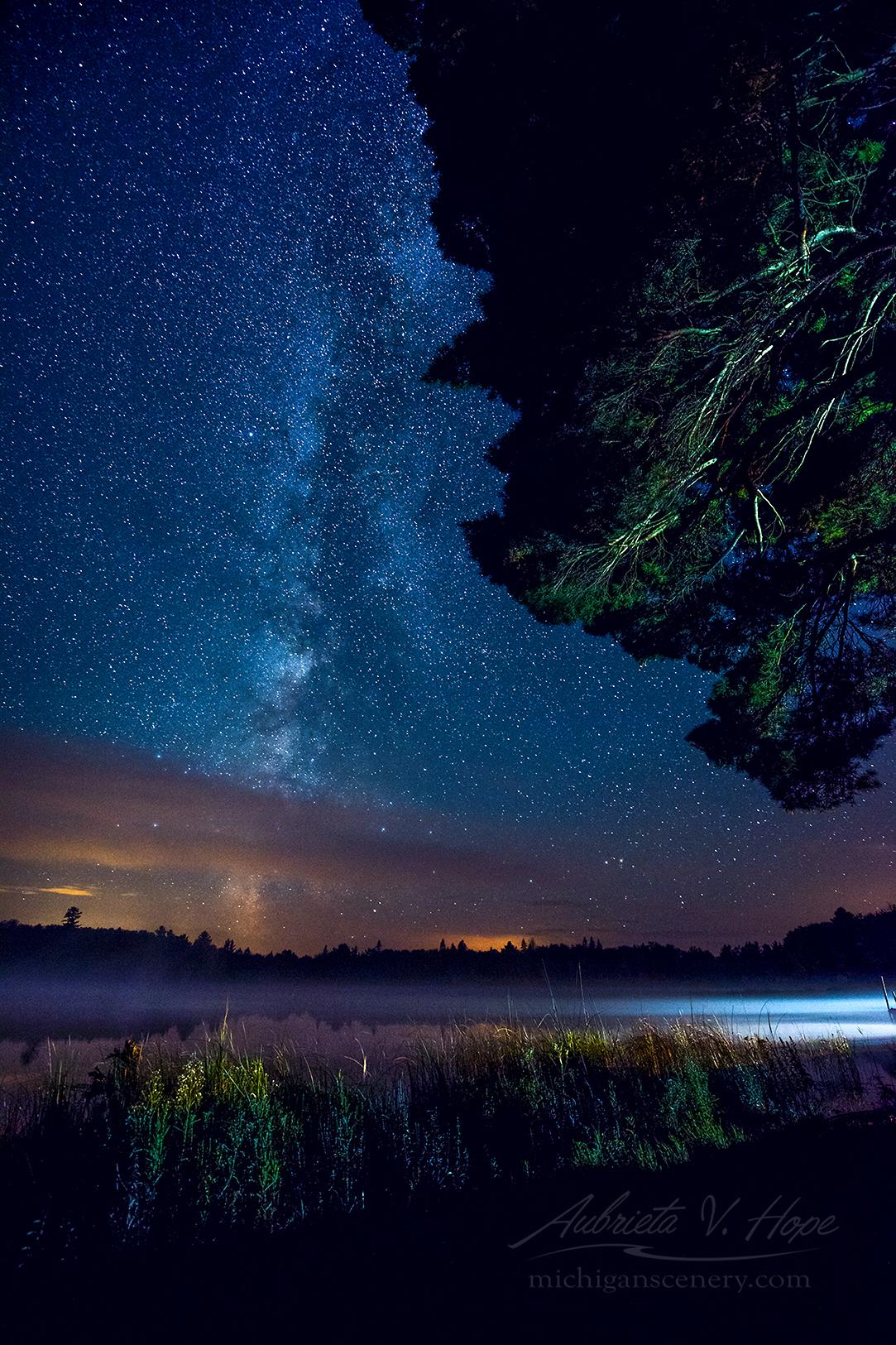 MI17-0973-6198 Milky Way at Otter Lake by Aubrieta V Hope Michigan Scenery .jpg