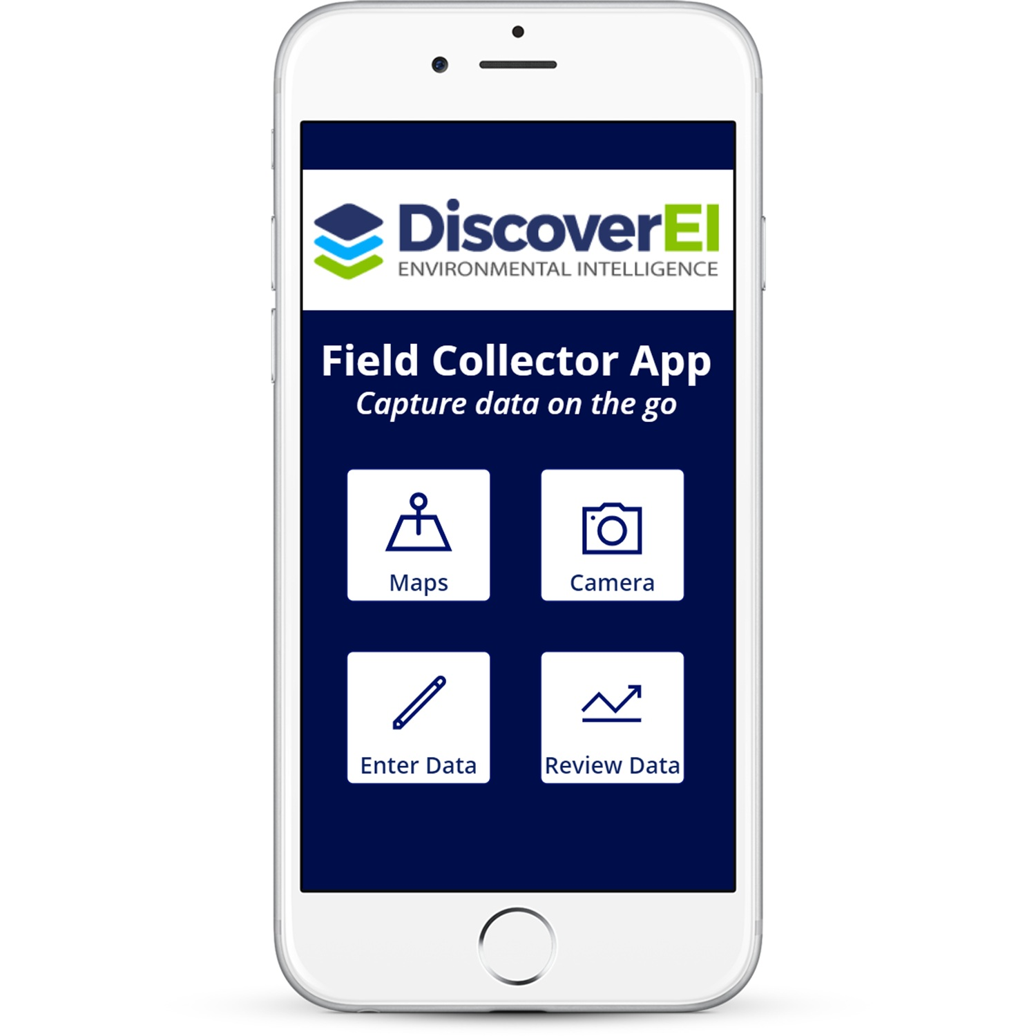 DiscoverEI Mobile App Homepage
