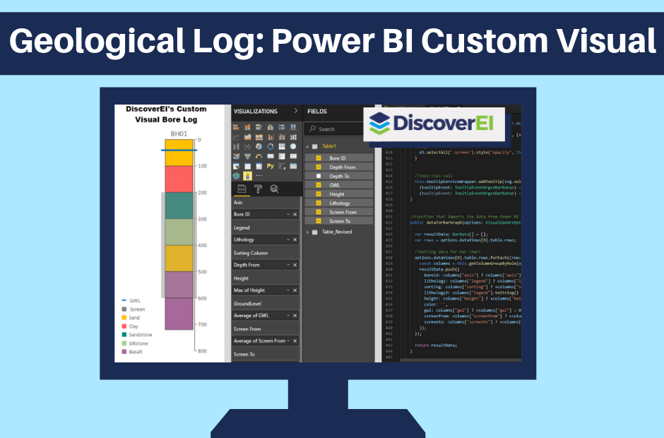 DiscoverEI Power BI Custom Visual Borelog