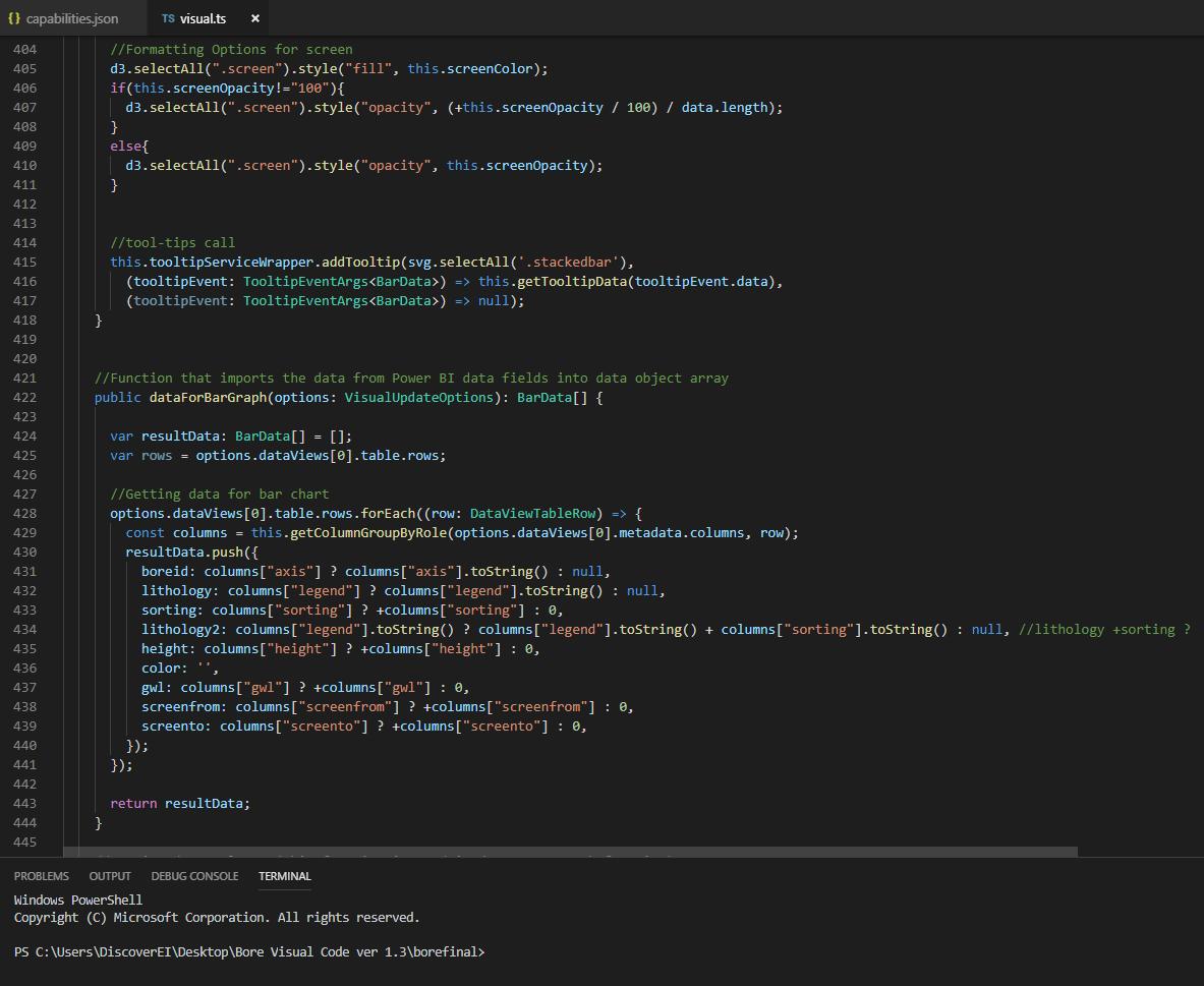 DiscoverEI Power BI Development Typescript