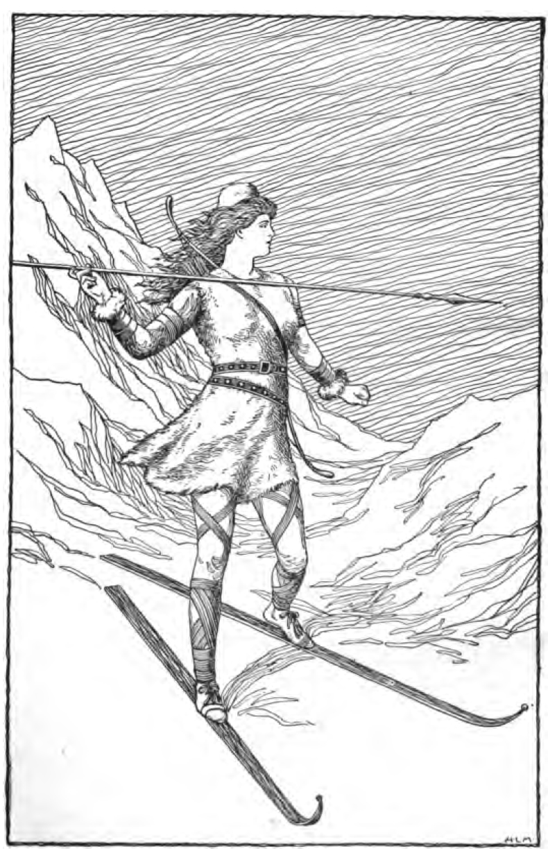 """By Signed """"H. L. M."""" - Foster, Mary H. 1901. Asgard Stories: Tales from Norse Mythology. Silver, Burdett and Company. Page 79., Public Domain,"""