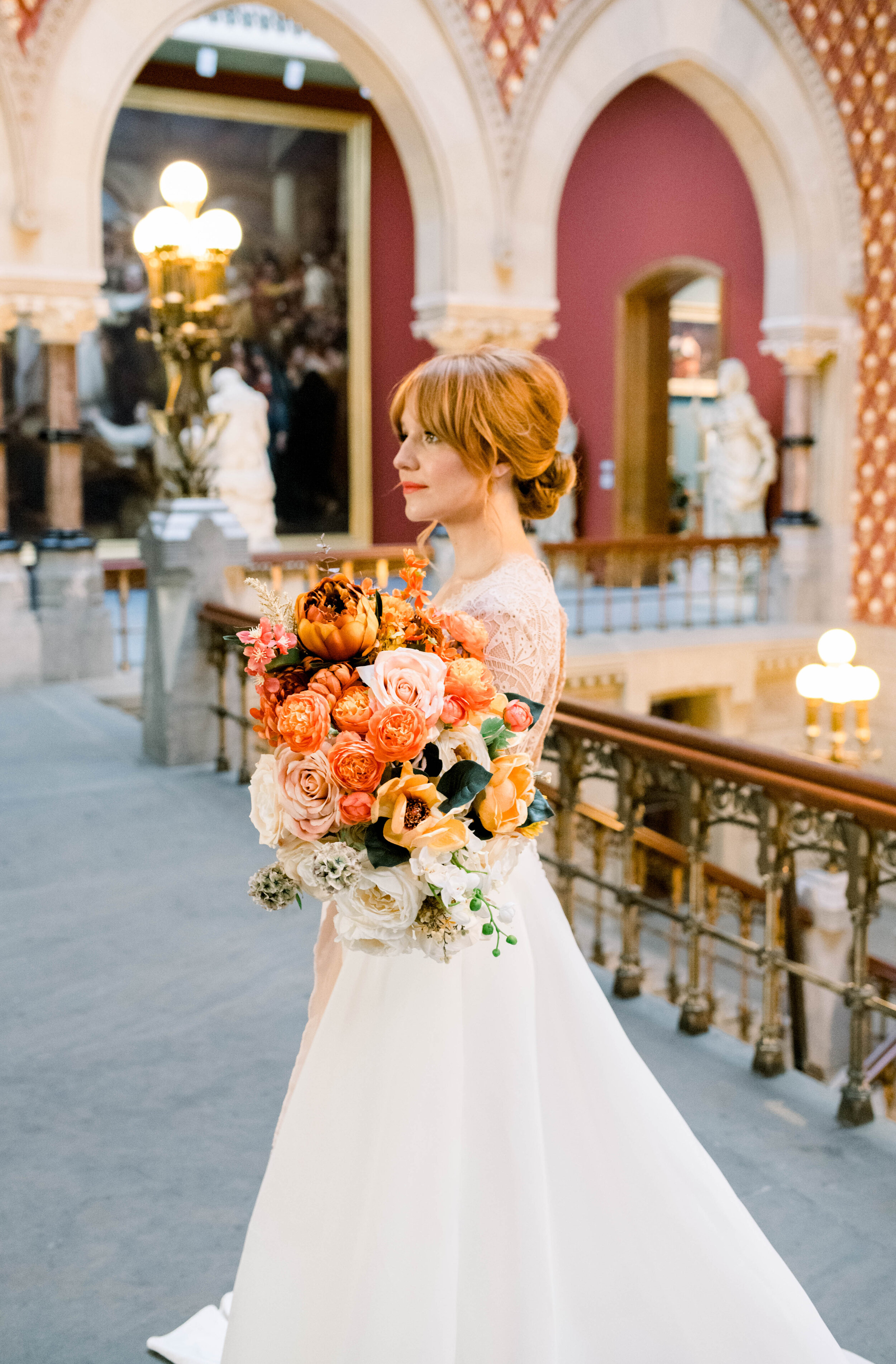 Pennsylvania academy of the arts+pafa+pafa weddings+philly wedding+fall wedding+modern yet timeless wedding+museum+bridal portrait+photo