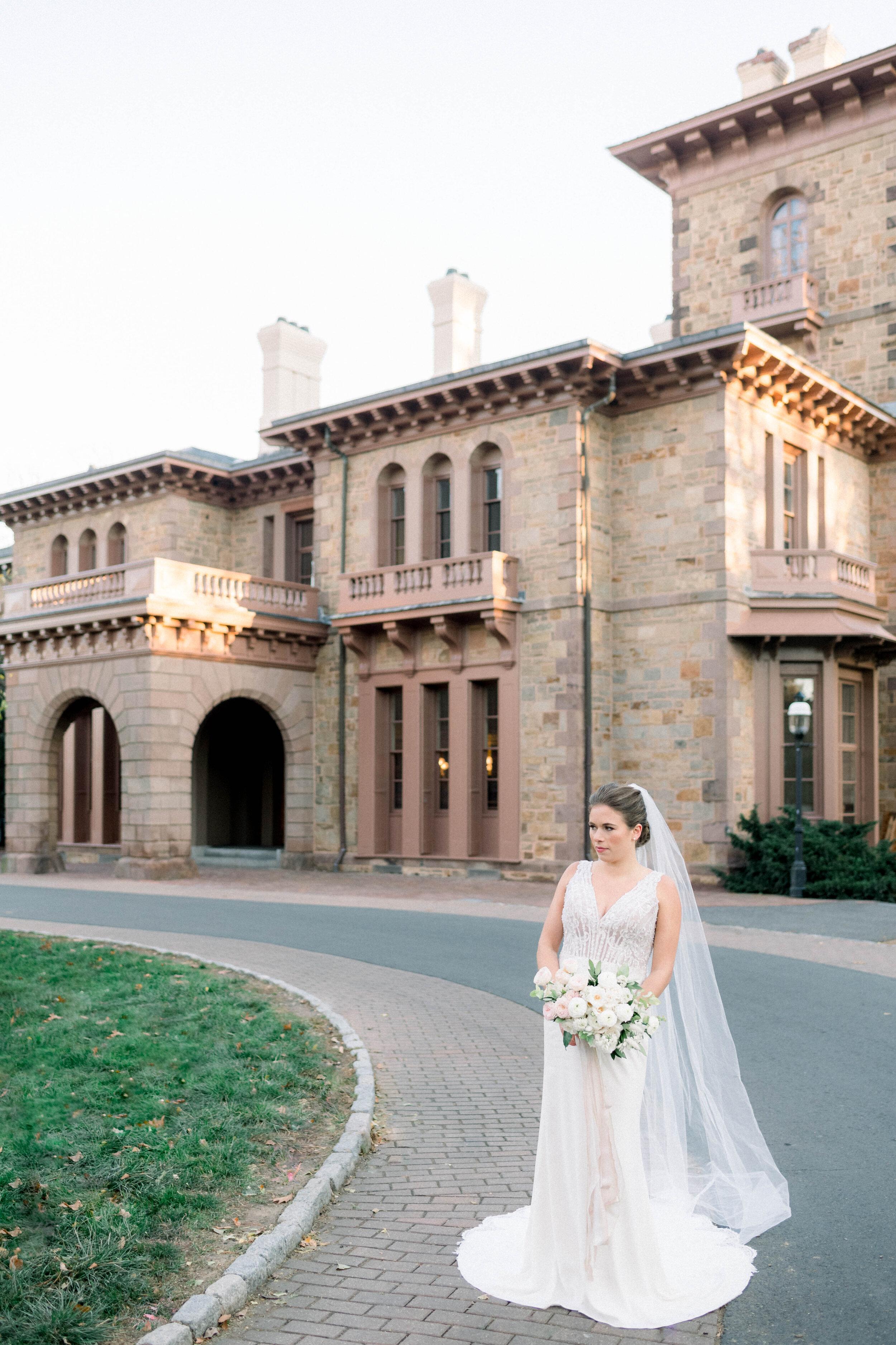 Fine Art Bride Editorial at Princeton University featured on Glittery Bride
