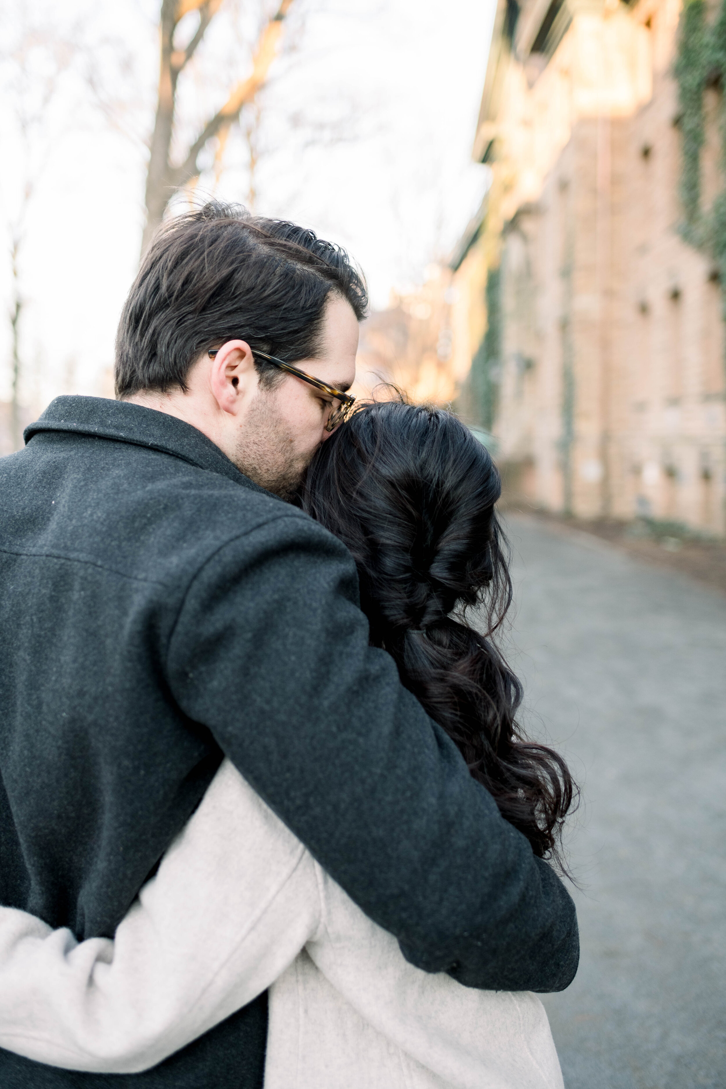 Princeton University Fine Art Engagement Session with Jimmy Choo Shoes by Liz Andolina Photography