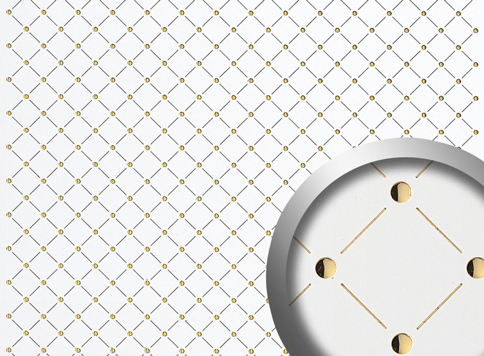 Punch 3D Collection - Punched wall panels and decorative panels with 3D effects or holes. Matt, brushed-metal surfaces or wood looks and high-gloss inlays.