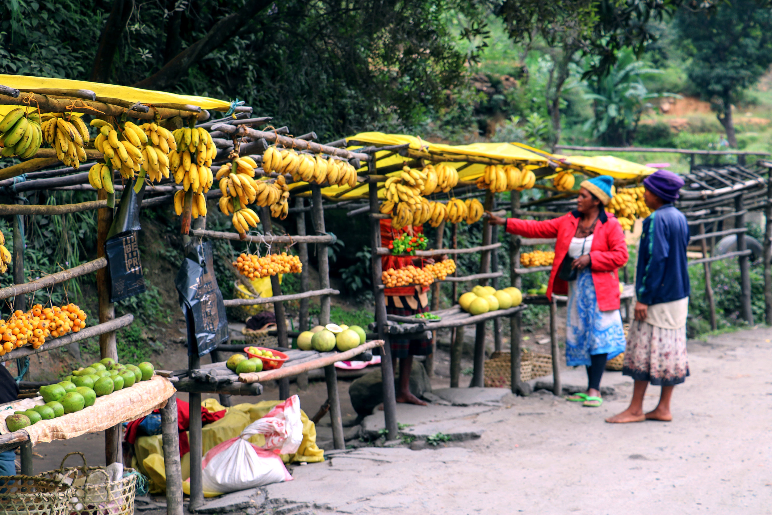 Fruit stands along the road to Andasibe © Mora Mora Photography