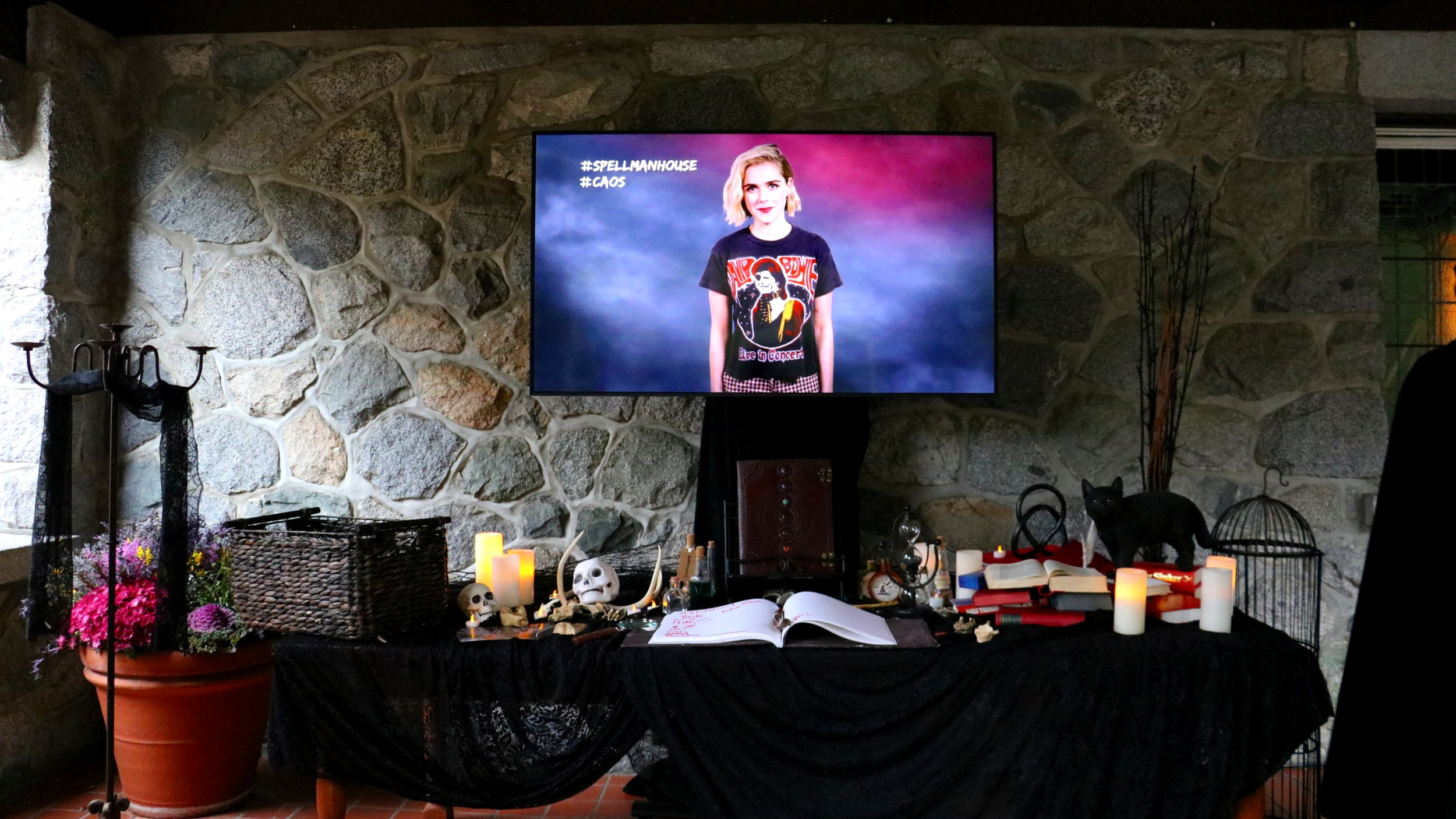 """Think you're ready to join the coven?"" A video of  CAOS  star Kiernan Shipka greets guests."