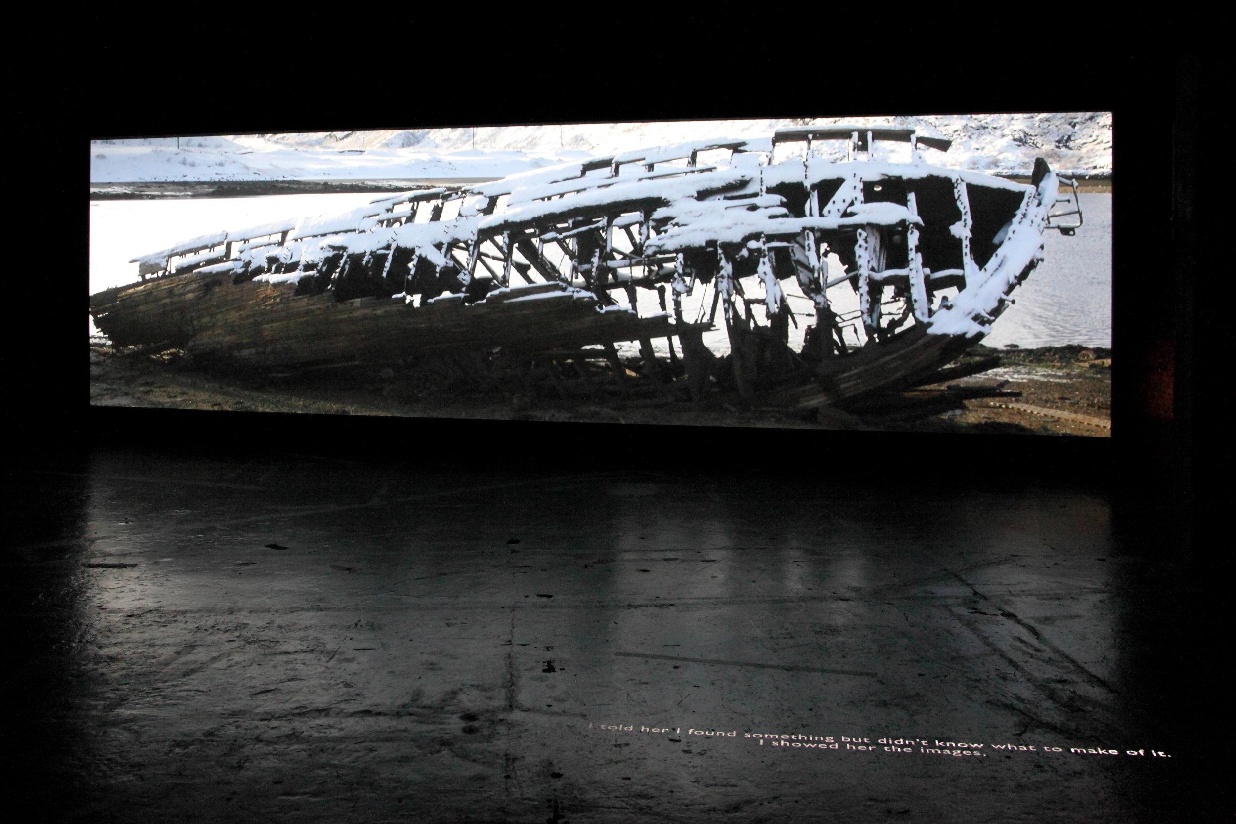 "Phantom Sun - installation view ""four Directions of Heaven, Argos (Brussels)"