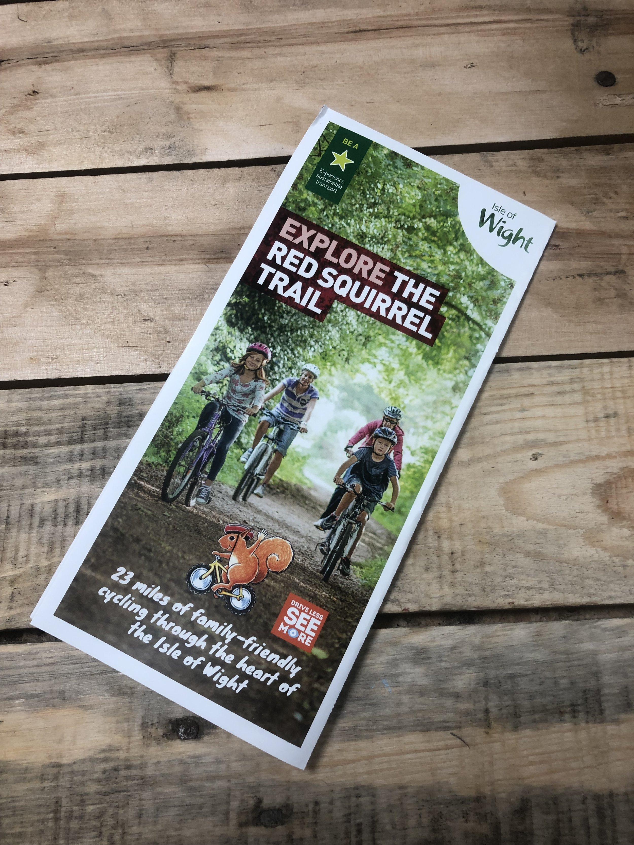 Red Squirrel Trail Route Map. - Available with your bike hire, just ask when you collect your bikes
