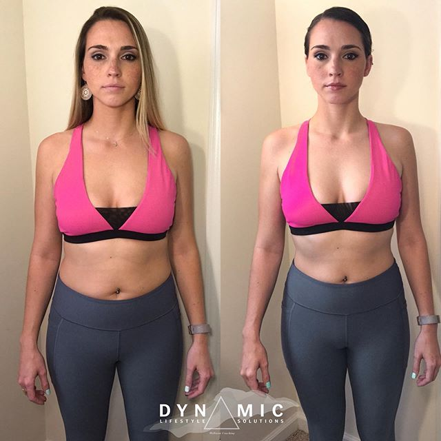 """A quick little 3 week update on one of our Spring Challengers @tiffany_rose_29 💪🏼🔥 - """"I have to say.. I can't stop looking at my progress pictures! This is crazy to me in just 3 weeks!!! And I've only lost one pound in the process!"""" - If this doesn't show you how much the scale really DOES NOT matter, I don't know what will! - It's truly amazing how when you properly nourish the body, not only do you see it physically, but you feel it mentally, emotionally, and nutritionally! - Keep up the great work Tiffany! We can't wait to see your final check in! - - - - - - #dynamiclifestylesolutions #dlssummerchallenge2019 #iam1stphorm #1stphorm #tampafitness #tampa #southtampa #wellnesscoach #iifym #iifymcoach #lifecoach #mentalhealthawareness #transphormation #healtheducator"""
