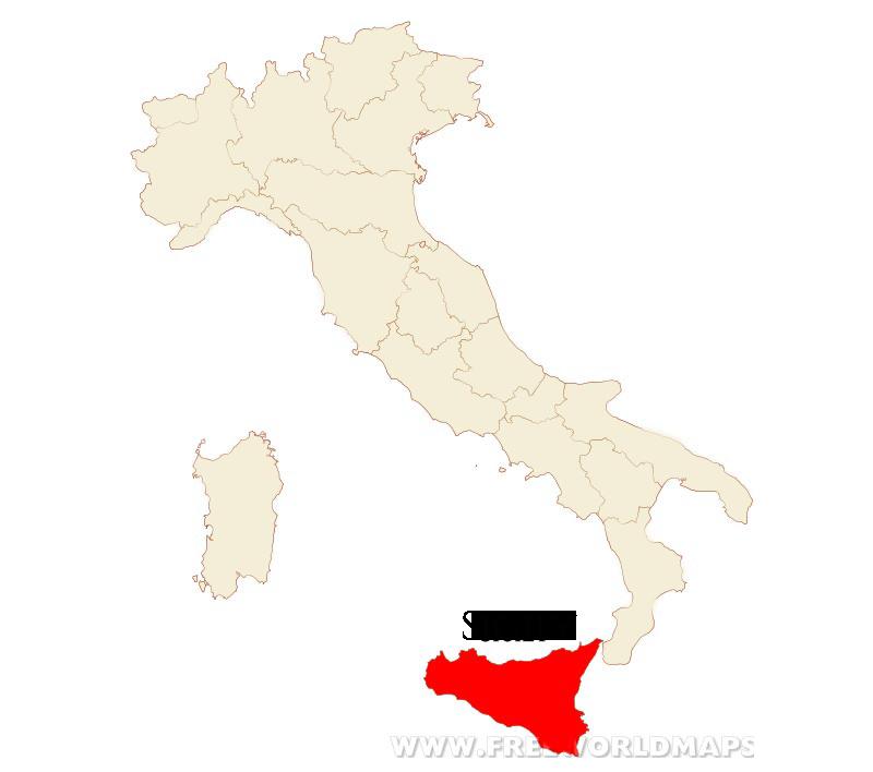 Italian Culinary Tours - Sicily, Italy Map