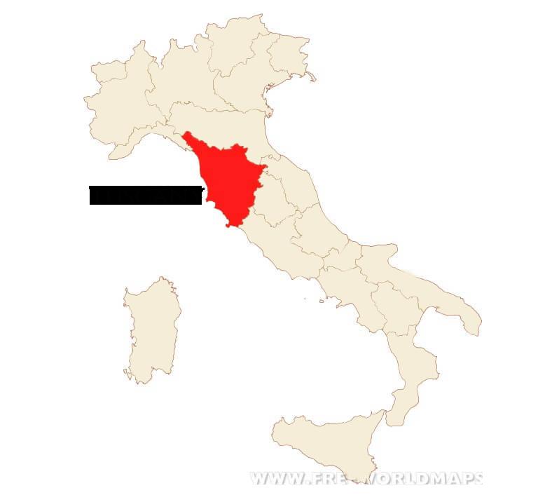 Italian Culinary Tours - Tuscany, Italy Map