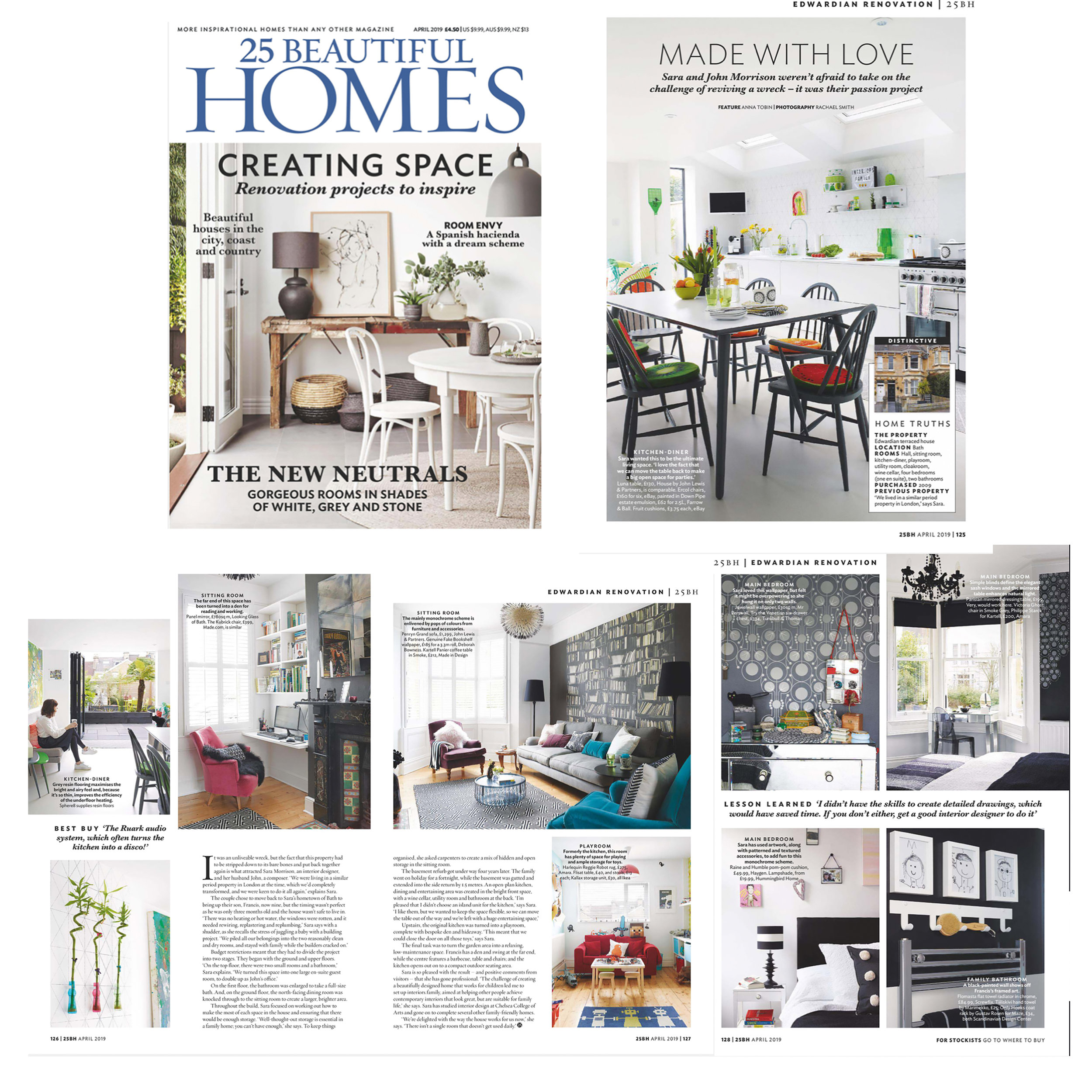 25 Beautiful Homes April featuring Sara Morrison & interiors.family