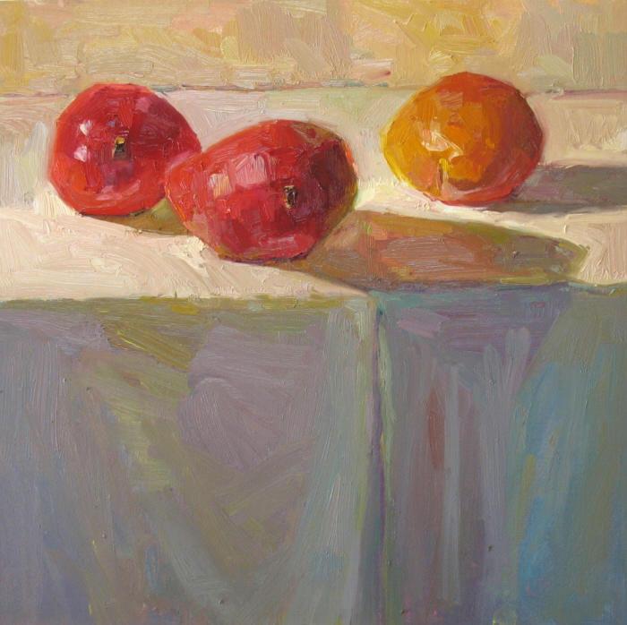 """Mangoes, 16""""x16"""", Oil on Board"""