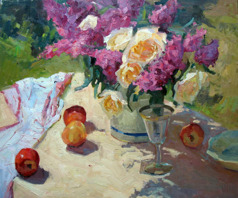 """Sunny Afternoon, 20""""x24"""", Oil on Board"""