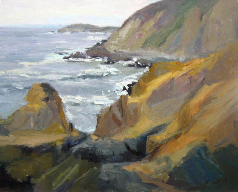 """Grey Day Coast, 16""""x20"""", o/b"""