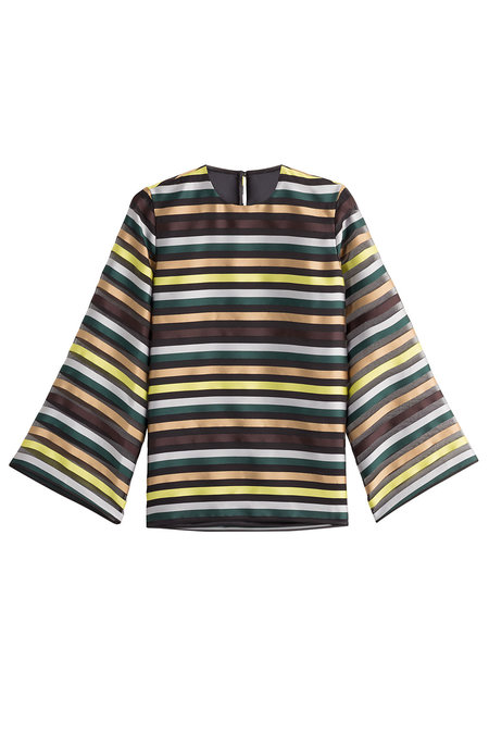 And for a shirt that can go either way, we can't get enough of this  Emilia Wickstead striped top.