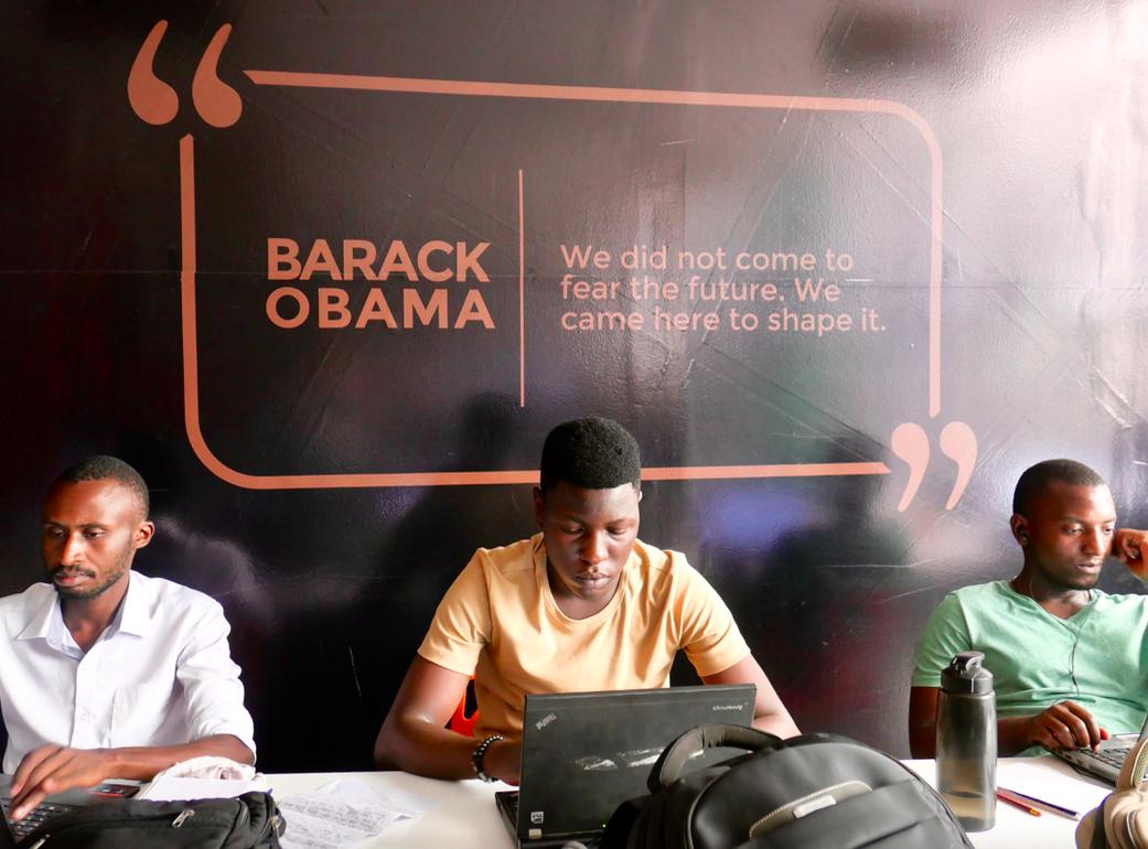 Social entrepreneurs working at Innovation Village