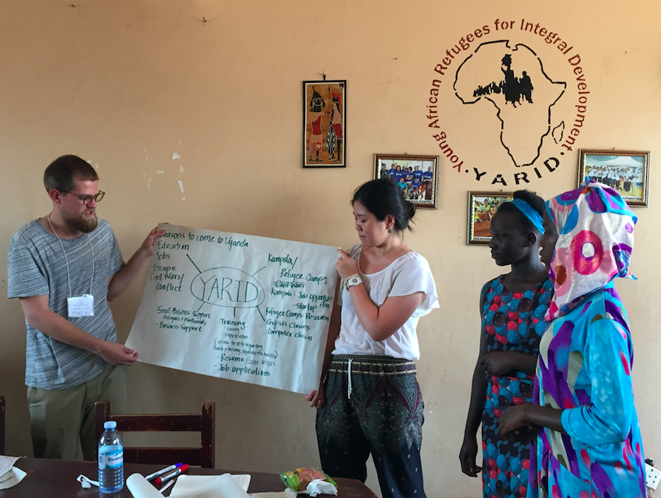 Presenting what we learned from small discussions with the refugees