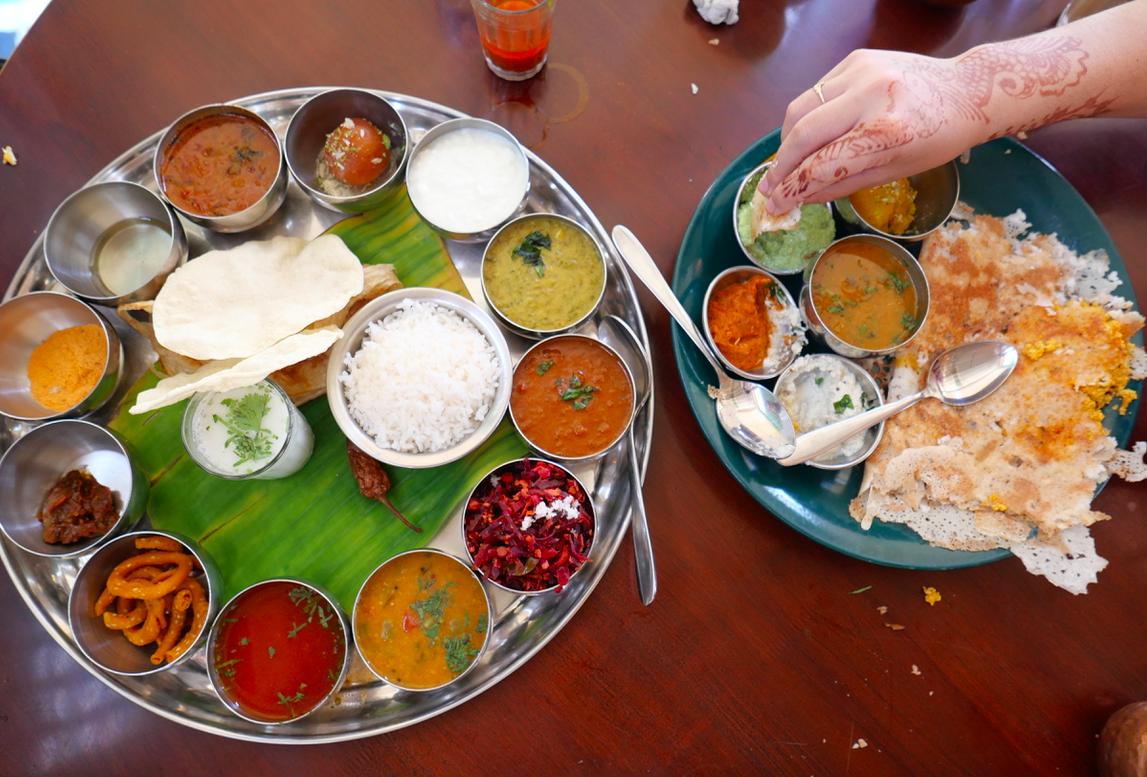 My favorite meal in India at Juggernaut restaurant!!