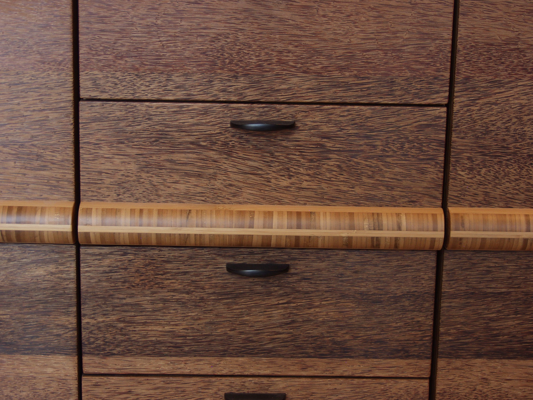 Palm Cabinet with Bamboo Accents