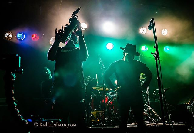 Super cool photograph of our sax player @dannyqsax and vocalist @juicevox0007 captured by photographer @katauer at The Sweatband CD release show last week! . . #funk #music #sax #funky #minneapolis #photography #sweatbandfunk #midwest #funkband #instamusic #instamusician