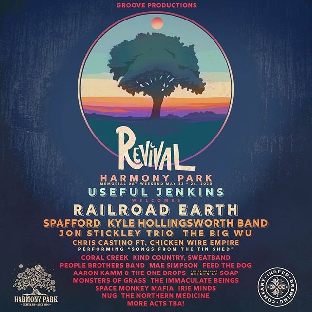 We are super pumped to make y'all Sweat 2ThaFunk at @revivalfestmn in May! We're thrilled and honored to be part of this amazing festival and all-star lineup!