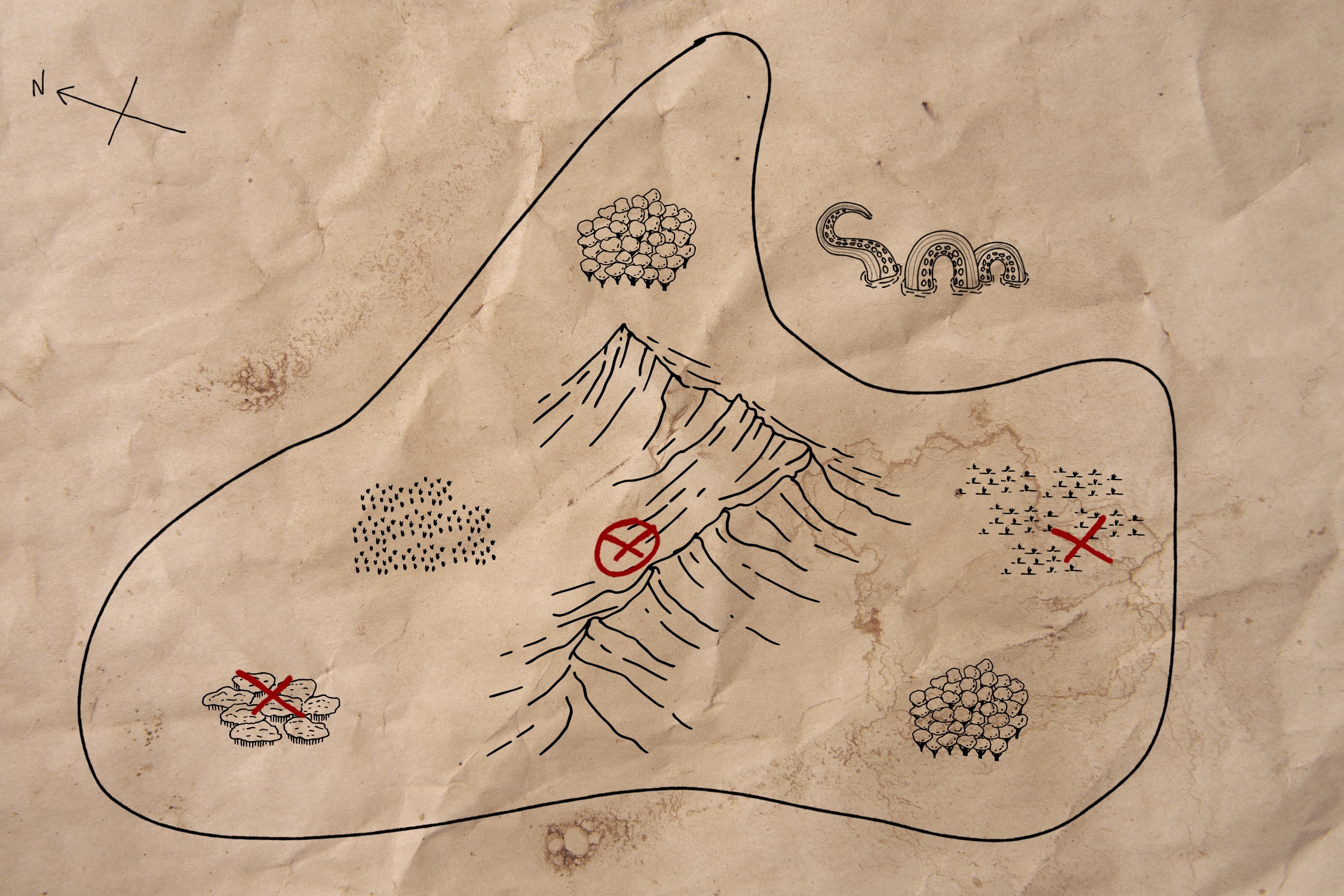A mysterious map leading to treasures unknown