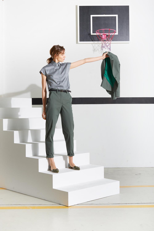 Annette Rufeger Anzug, salbeigrün