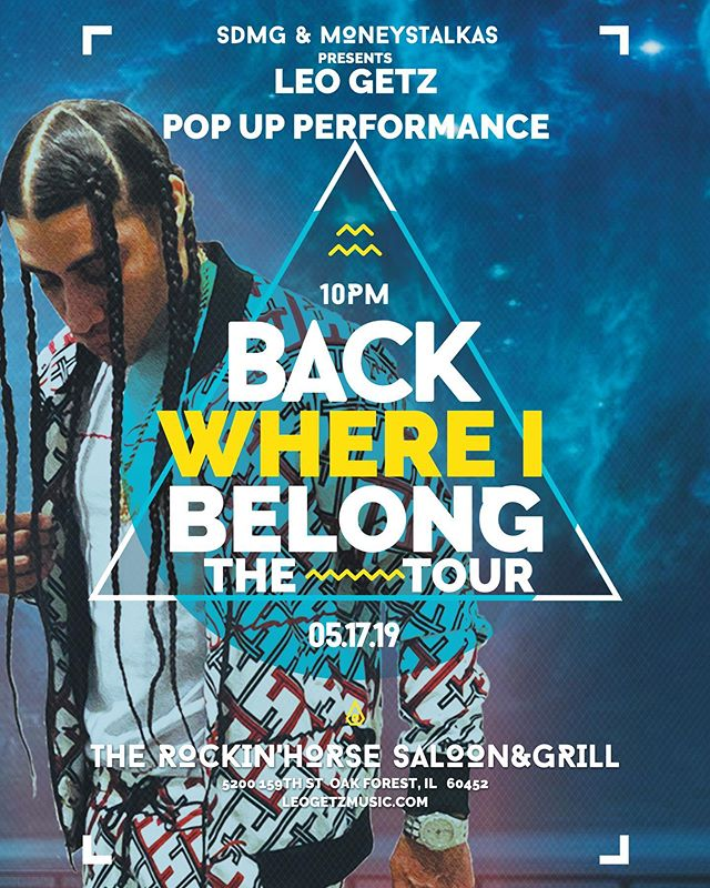 #TourLife 😤 Surprise Pop Up Performance by Me @leogetz100 wit my 💉💉 @4s_trapworld and @4spaypa_ TONIGHT at @therockinhorse159 🤘🏽🌊🏄🏽♂️ #BackWhereiBelongTour 5200 159th ST Oak Park, IL 🔥🔥🔥🔥 We bout to get lit‼️ Come out end T-Up wit me💯 #DripOnTsunami ....Click Link In Bio.... 🎬🎥 #unsignedartist #chicagorappers #trending