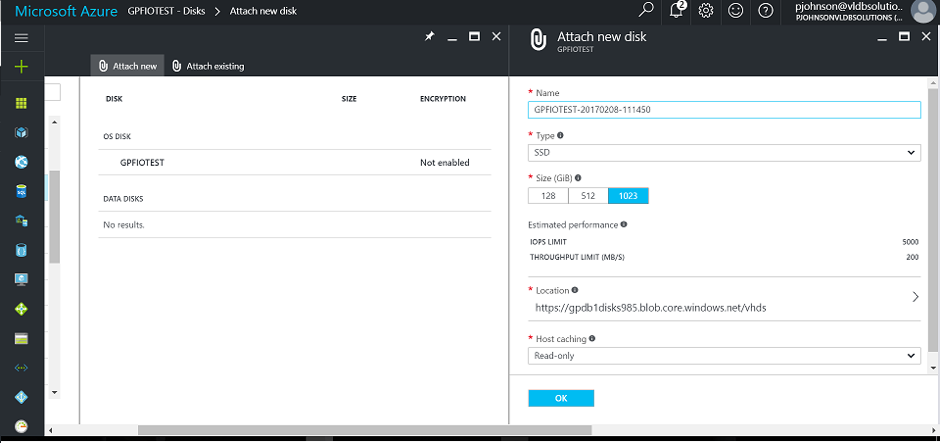 Azure Disk Console