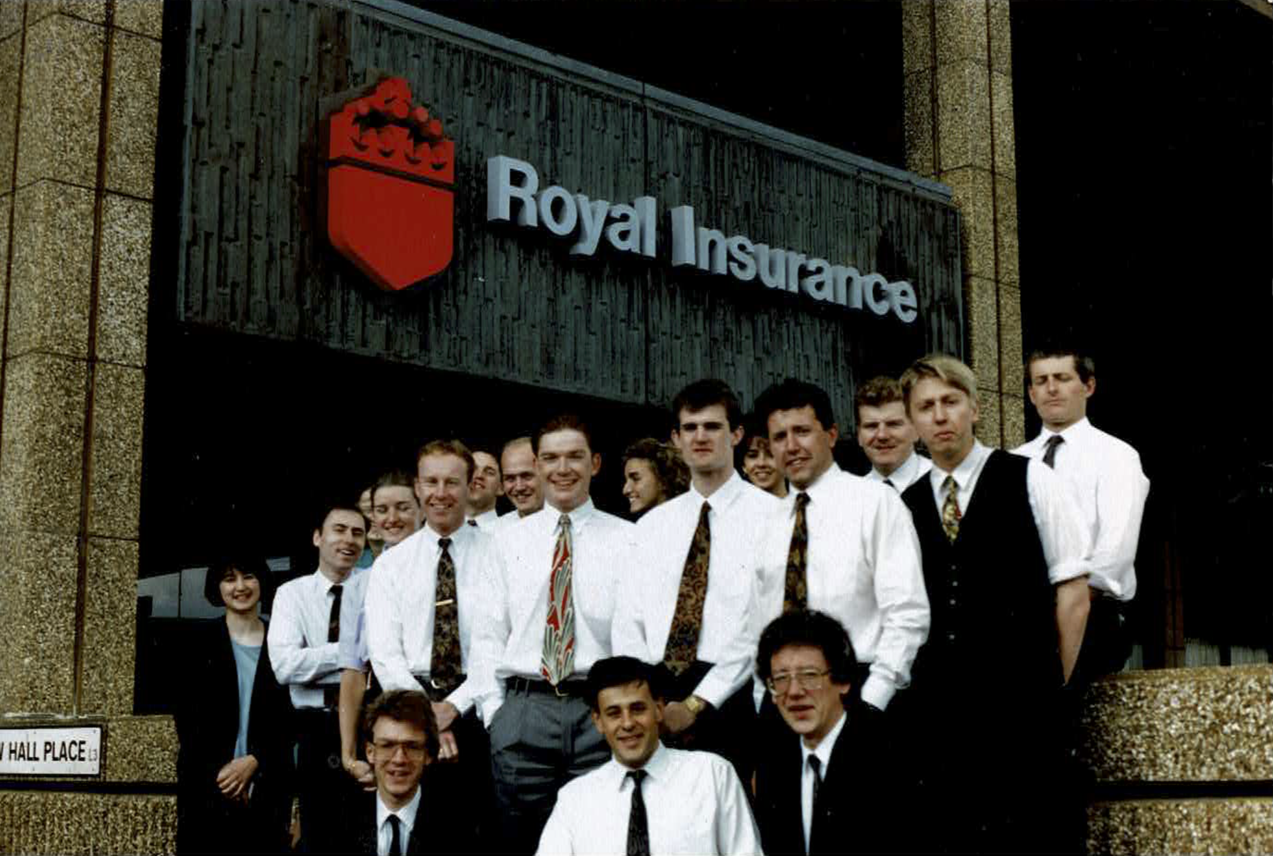 Team photo of staff at Royal Insurance