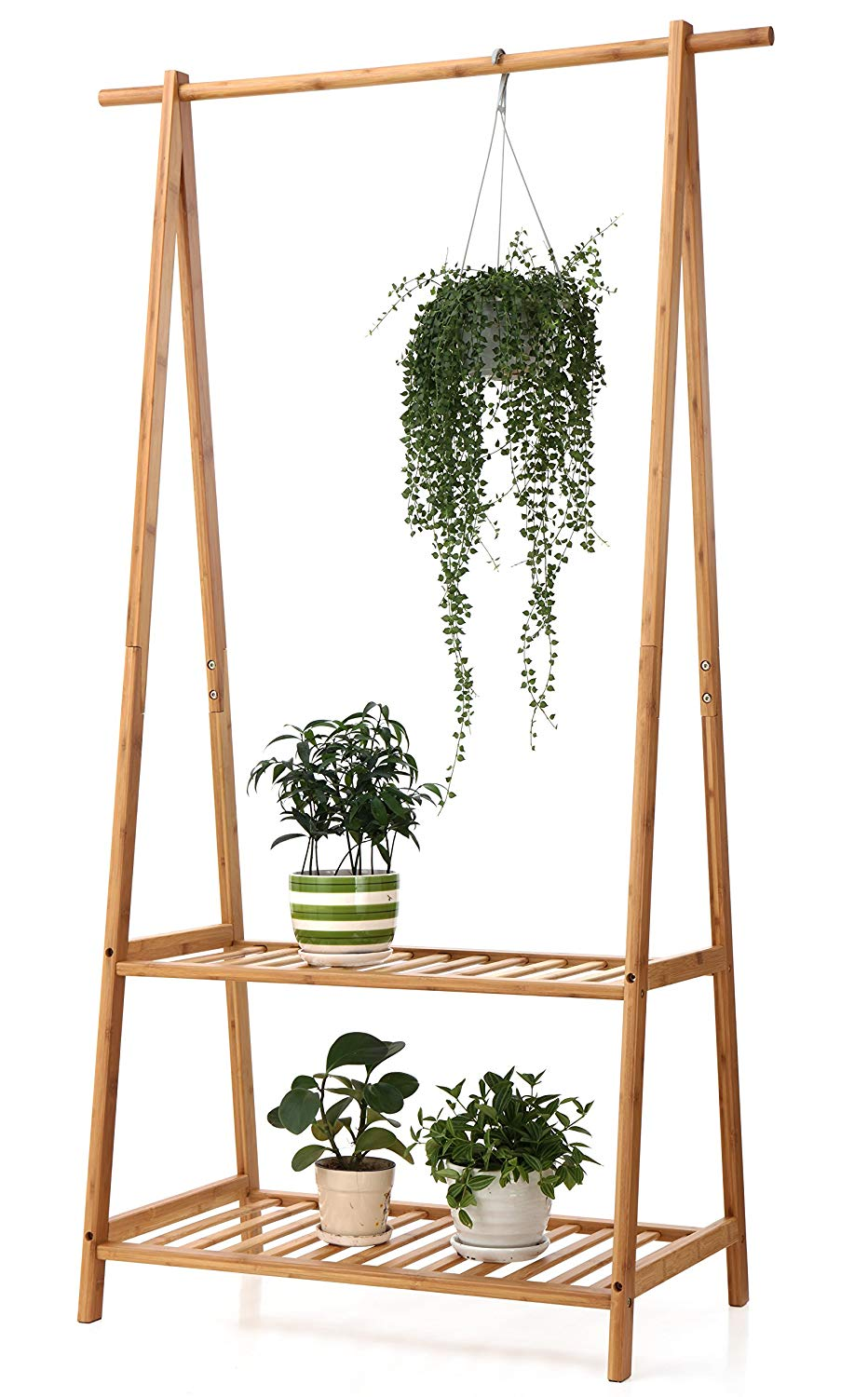$45 - Bamboo Plant Stand | This little guy stores all of our misfit plants in the dining room. They stay very happy here :)