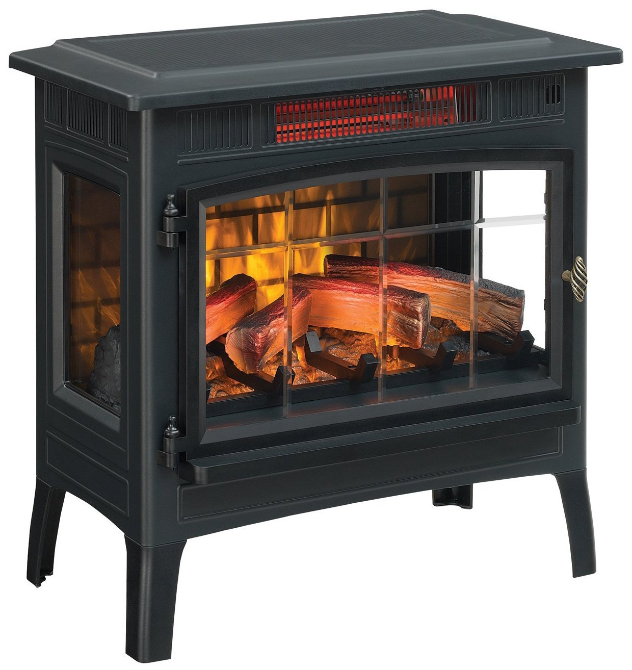$150 - Duraflame Electric Infrared Quartz Fireplace | Anyone who has been in my home knows that I am a sucker for an electric fireplace… Wherever I am there they will be also. This is the one we keep in our bedroom.