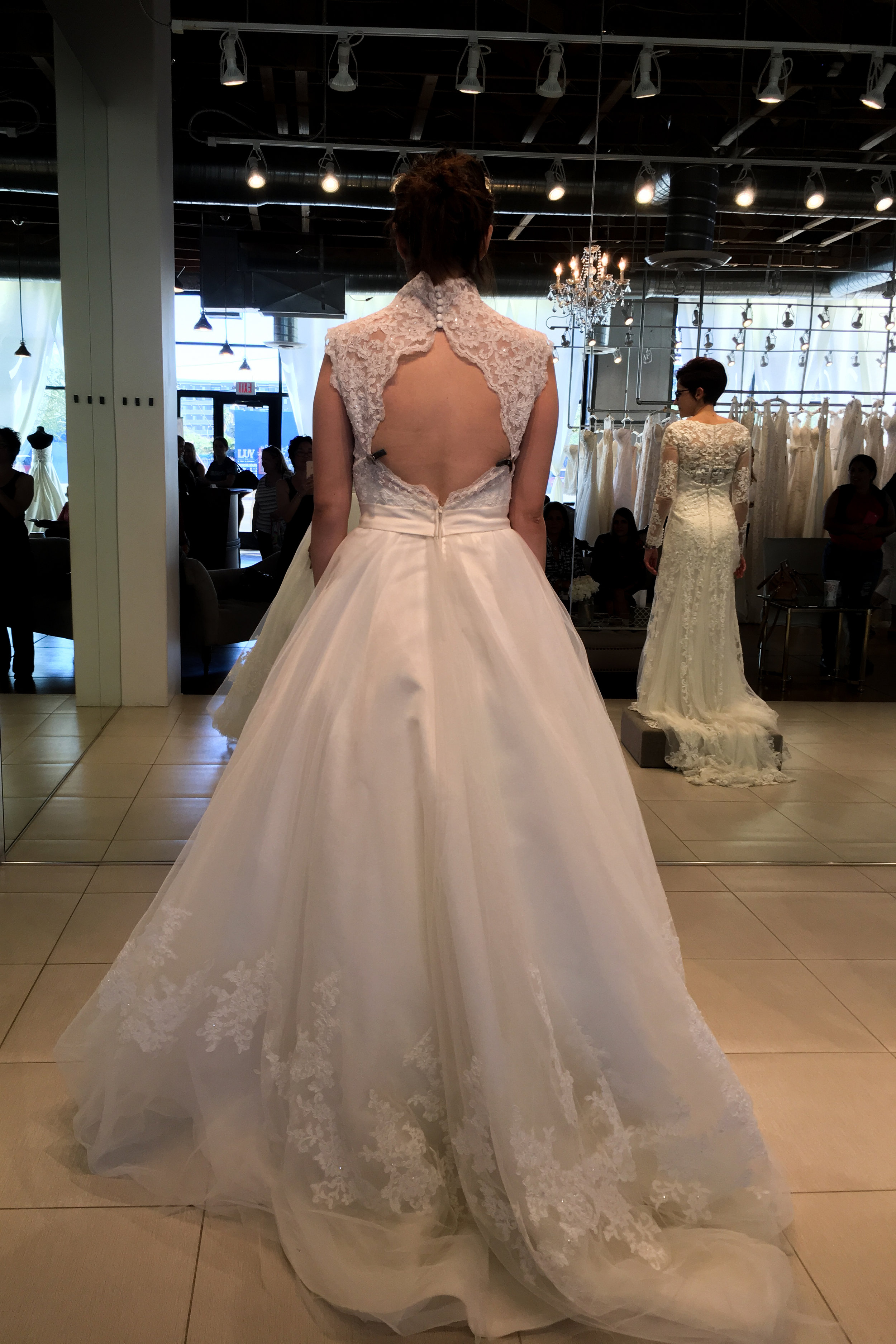 A beautiful gown at Luv Bridal, but not the one!