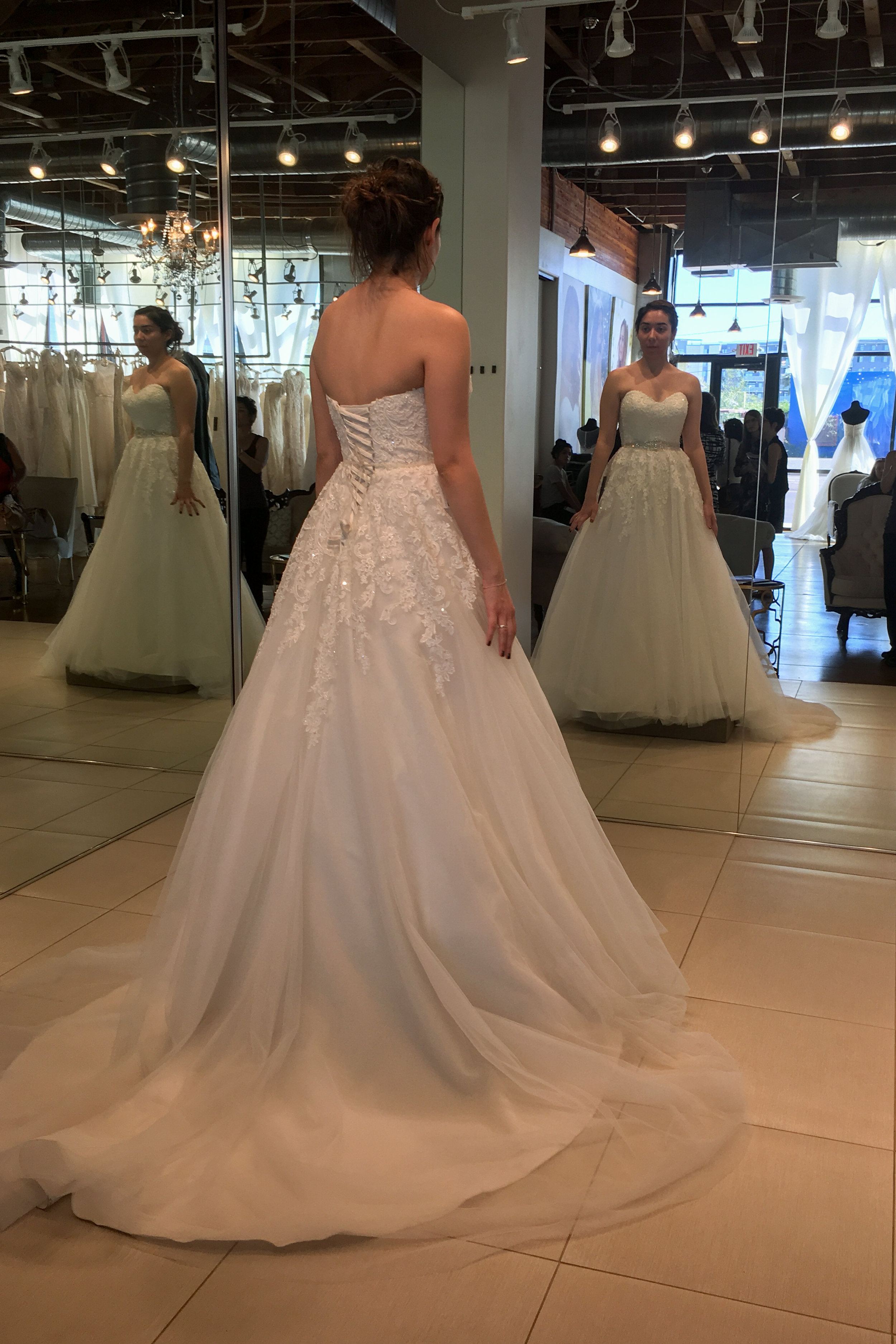 The dress style I chose, CARRIS, but in all white!