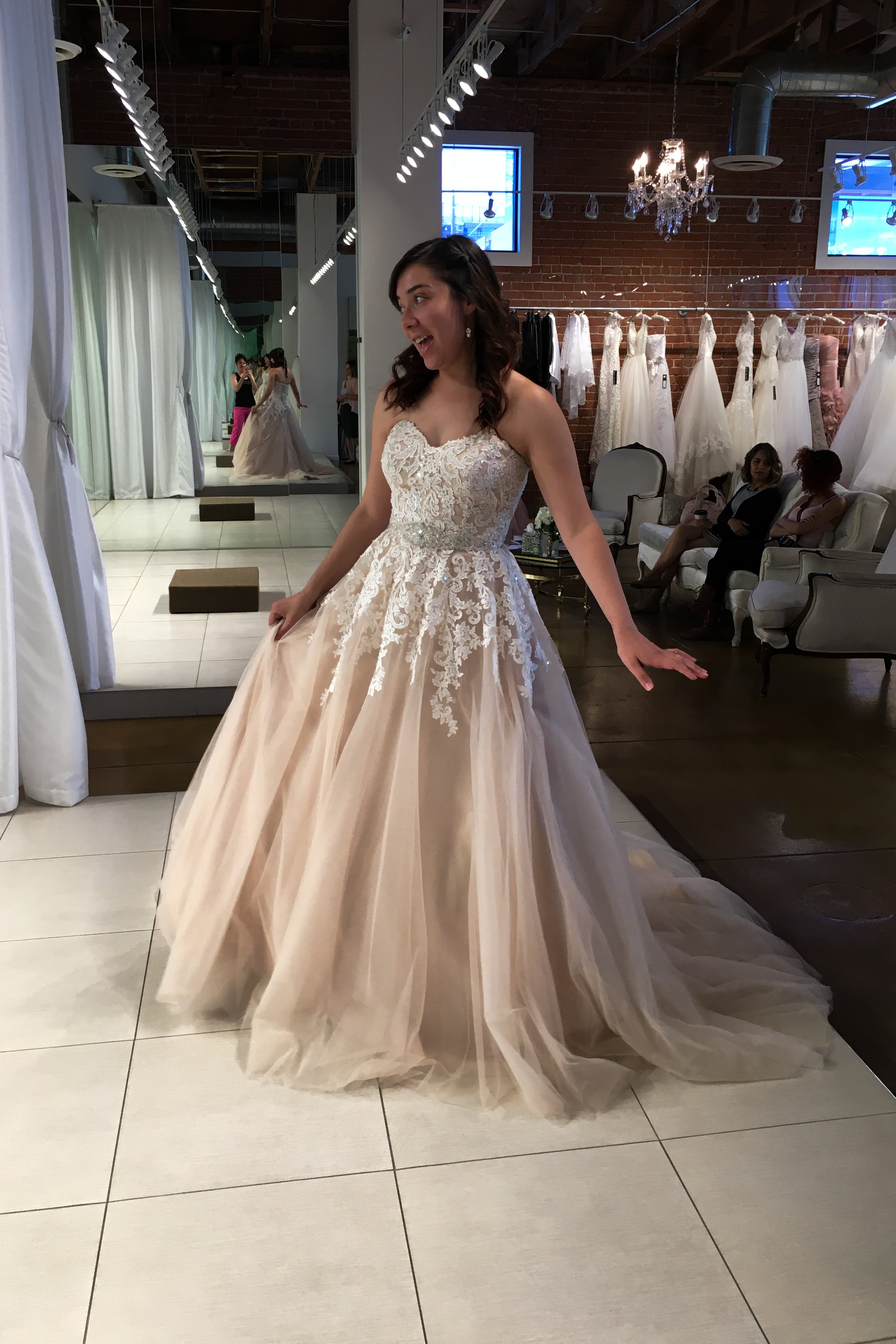 My last fitting before the big day!!!