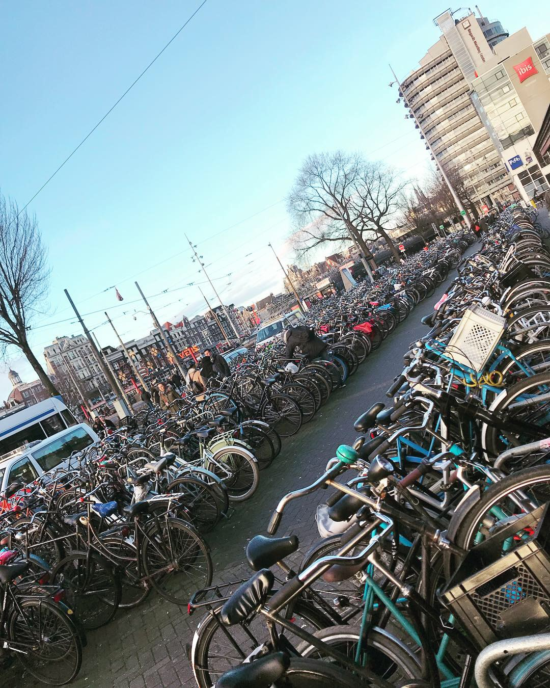 Only few bicycles…!